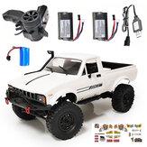 WPL C24 1/16 2.4G 4WD Caminhão RTR de esteira rolante RC Carro Controle proporcional completo Dois / três Bateria