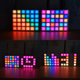 Geekcreit® DIY Kit d'horloge à palette de couleurs RVB multifonction LED Cool Music Spectrum