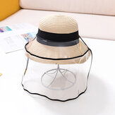 Kids / Little Kids(3-10ys)  Bow Straw Hat Child Protective Hat Baby Sunscreen Sun Hat