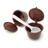 8Pcs Set Capsules de café rechargeables pour Dolce Gusto Brasseurs réutilisables Recharge Filtre à tasse de café