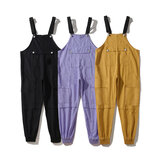 Men Fashion Dungarees Soft Breathable Overalls Suspender Trousers Workwear Bib Pants Jumpsuit Outdoor Hiking Travel