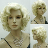 Blonde Marilyn Monroe Fashion Curly Parrucca Cosplay Capelli Completo stile caldo Parruccas