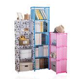 4/5 couches étagère en tissu Simple multifonctionnel étagère de rangement pour débris armoire fichiers livres affichage étagère unité bricolage assemblé bibliothèque