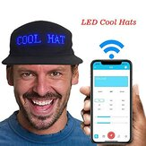 Luminous LED Hats Display Multilanguage Wireless Bluetooth Festa Beisebol Masculino Boné Chapéu de Sol