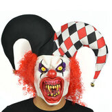 Redhead Big Hut Clown Scary Face Latex Maske für Halloween-Spielzeug