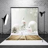 5x7ft pupazzo di Natale bordo della parete dello studio fotografico sfondo sfondo