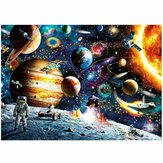 1000 Pieces DIY Space Traveler Scene Flat Paper Jigsaw Puzzle Decompression Educational Indoor Toys