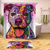 180 x 180CM Bathroom Shower Curtain Graffiti Dog Pattern Print Waterproof Polyester Shower Curtain