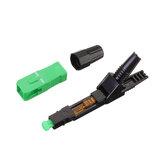 100 pcs Flip Tipo SC APC Rápido Conector Adaptador SC Embutido FTTH SC APC Conector Suporte 0.9mm 2.0mm 3.0mm FTTH Cabo Plano