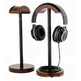 Solid Wood Display Stand Hanger Holder Rack For Gaming Headset bluetooth Earphone Headphone