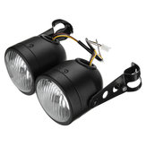 12V H4 35W Dual Twin Motorkoplamp Dominator Tracker Streetfighter Koplamp + Beugel