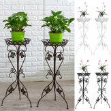 Metal Plant Display Stand Flower Pot Holder Shelf Garden Patio Indoor Outdoor