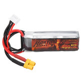 HGLRC KRATOS 11.1V 450mAh 75C 3S Lipo البطارية XT30 Plug for RC Racing Drone