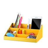 VPACK Storage Box Desk Organizer Stationery Storage Pen Holder 6 Color Office School Supplies