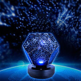 Stars Starry Sky Projetor Night Light USB Romântico Lâmpada Dream Planetarium