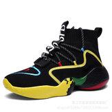 Chaussures de basket-ball montantes pour hommes Baskets de course respirantes Escalade de sport Bottes de jogging de marche