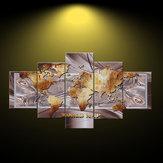 5 لوحة خريطة العالم غير المؤطرة قماش طباعة اللوحات الرئيسية نوم جدار الفن ديكورات