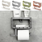 Plastic Toilet Paper Tissue Roll Holder Phone Cup Rack Shelf Wall Mount Storage