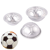 6pcs Set Aluminum Metal Sphere Football Bath Bomb Molds 3 Size DIY Cake Crafts