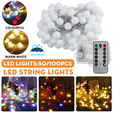 2M / 5M / 10M Batteria Alimentato LED String Light 8 modalità Globe Bulb Ball Fairy lampada For Patio Outdoor Garden Christmas Party Decor