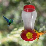 Bird Water Feeder Bottle Hanging Hummingbird Feeder Garden Outdoor Plastic Flower Iron Hook Bird Feeder For Outside/Inside