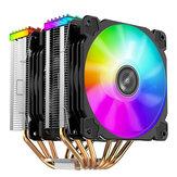 Jonsbo CR2000 6 rurki cieplne podwójna wieża chłodnica procesora 120mm 5V / 3PIN wentylator ARGB 4PIN PWM cisza dla LGA 775 1155 1156 AM4 AM3