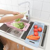 Geri çekilebilir Depolama Raf Kurutma Sebze Drenaj Sepet Bulaşık Lavabo Havzası Tahliye Mutfak Parçalar için
