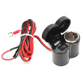 12-24 В 7/8-дюймовое 1-дюймовое зарядное устройство USB с кнопкой ON OFF Водонепроницаемы Крышка питания мотоцикл