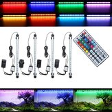 38CM 5.9W RGB LED Aquarium Fish Tank Light SMD5050 Barre de changement de couleur Lampe submersible + Télécommande AC110-240V