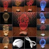 Creatieve Optische illusie 3D Light Office Home Decor Gift Lichtgewicht USB Led Light Desk Tafellamp