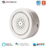 SMARSECUR Tuya Smart Home Wifi Датчик температуры и влажности Датчик Детектор экологической сигнализации Работа с приложением Tuya Smart Life
