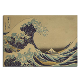 Kanagawa Surfing Poster Schets Poster Kraft Paper Wall Poster 21 inch x 14 inch
