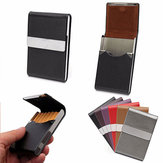 PU Leather Cigarette Case Tobacco ID Card Holder Multifunctional Storage Box
