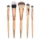 5pcs Soft Makeup Brushes Set Kit Golden Cosmetics Tools Eye Shadow Lip Blending Blush Brush