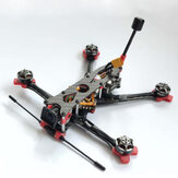 170 mm 4 Inch Fondo de 3 mm Placa Kit de marco de fibra de carbono para RC FPV Racing Drone Soporte CADDX VISTA