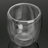 80ml Clear Glass Double Wall Mug Cup Insulated Thermal Office Tea Drinking Tea Container