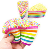 14x9x8cm Squishy Rainbow Cake Simulación Super Slow Rising Fun Gift Toy Decoración