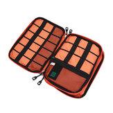 Honana HN-CB1 Sac de rangement à câble double couche Accessoires électroniques Organisateur Voyage Gear