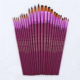 12ピース塗装ブラシセットフラットチップラウンドチップNylon髪水彩画油描画ブラシアーティスト学生用品