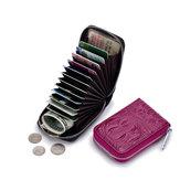 KobietyPrawdziwejSkóry12SlotKart Mini Portmonetka Monety