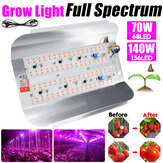 70W 140W COB de espectro completo LED Grow Light Veg Planta Flood Flood Lámpara para uso en interiores AC220V