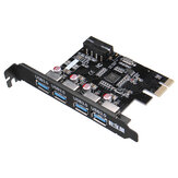PCI-E to USB3.0 4 Ports USB 3.0 Expansion Card 4 PIN Interface Power Connector For Desktop