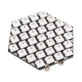 WS681237szt.KLĄTWARGBLED Sześciokątna tablica LED z 3 portami GROVE Kompatybilny z M5Stack UI-Flow M5Stack® dla Arduino - produkty współpracujące z oficjalnymi tablicami Arduino