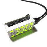 Geekcreit® DIY C51 Mini Kreative Einfache Weiße Desktop Elektronische Uhr Satz