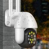 Inalámbrico IP66 Cámara Wifi 1080P Seguridad al aire libre Visión nocturna 12 LED Monitoreo