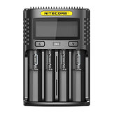 NITECORE UM4/UM2 LCD Screen Display Lithium Battery Charger 4-Slots USB Charging Smart Rapid Battery Charger
