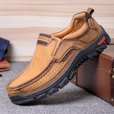 Hombre Piel de microfibra vendimia Casual Business Office Soft Mocasines para caminar