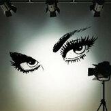 50 x 95cm grandi nere sexy occhi parete adesivi bellissimi occhi decorazione della parete della decalcomania della parete della casa
