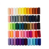250 Yard Spools 60 Colors Polyester Sewing Thread Reel Machine Hand Cord Tools Set