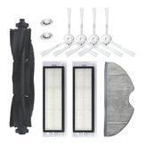 Substituições de 10 unidades para 360 S5 S7 Peças de aspirador de pó - Acessórios de esfregão * 1 Filtros HEPA * 2 escovas laterais * 4 escovas principais * 1 Núcleo de água * 2